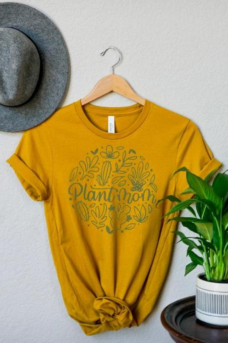 Plant mom shirt, plant lover gift, mom shirt, shirt for women sayings, gift for mom, plant hanger, plant stickers, plant lady gift